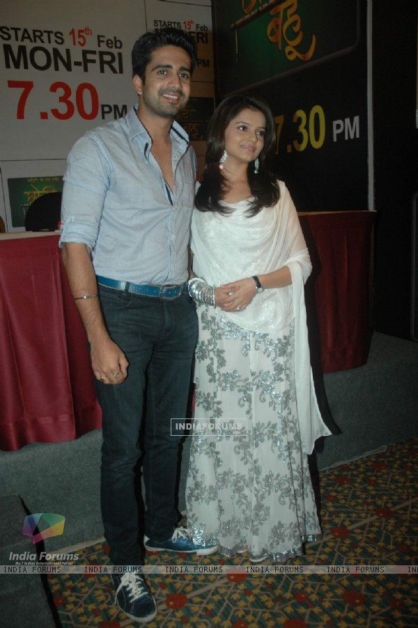 Avinash and Rubina at Media meet of Zee Tv Choti Bahu at JW Marriott