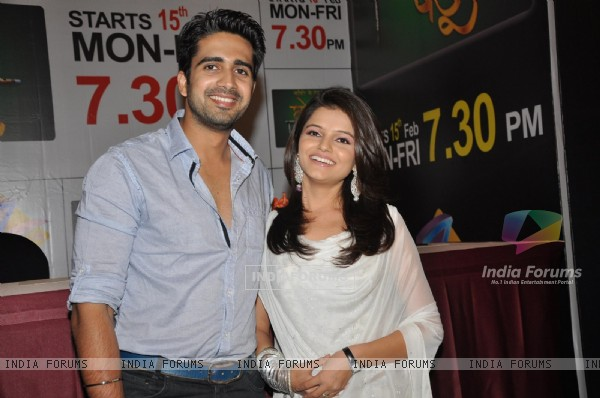 Rubina Dilaik and Avinash Sachdev at launch of Choti Bahu at JW Marriott in Mumbai