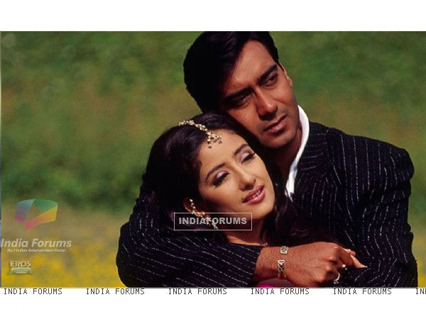 Ajay and Manisha in the movie Mehbooba(2008)