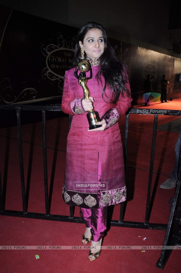 Vidya Balan at Global Indian film and Television awards at Yash Raj studios in Mumbai.  .
