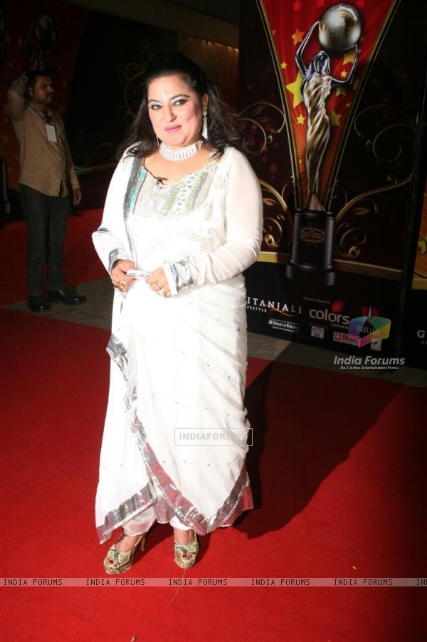 Dolly Bindra at Global Indian film and Television awards at Yash Raj studios in Mumbai