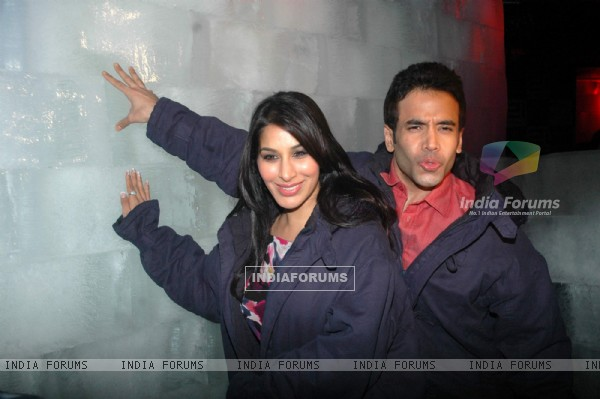 Tusshar and Sophie at Valentine event for singles at 21 farenheit. .