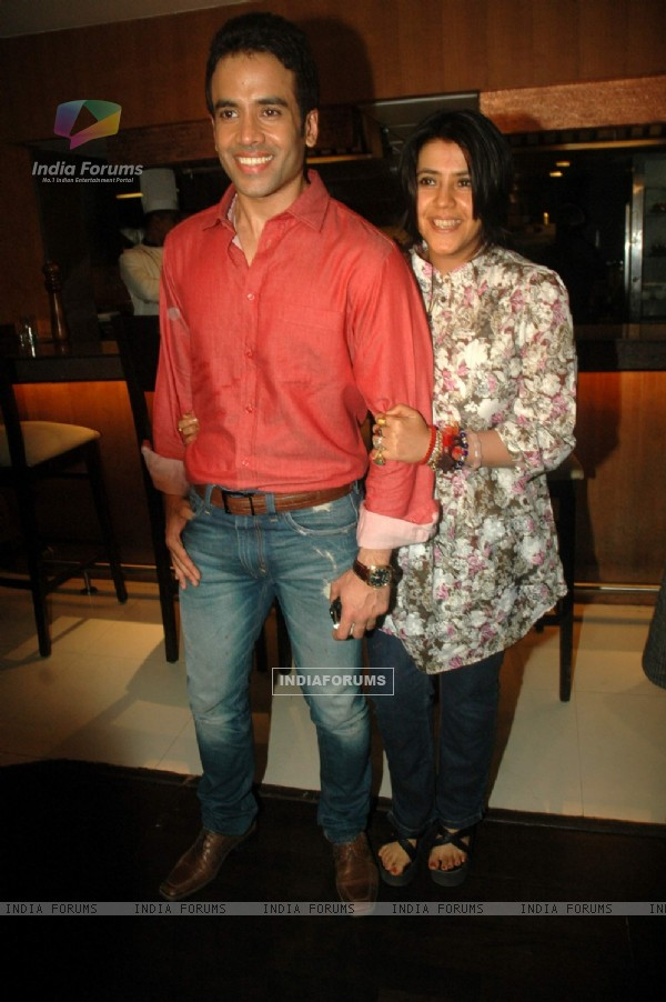Tusshar and Ekta Kapoor at Valentine event for singles at 21 farenheit. .