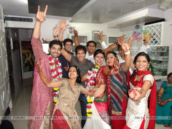 Gurmeet & Debina's with childhood friend in their wedding