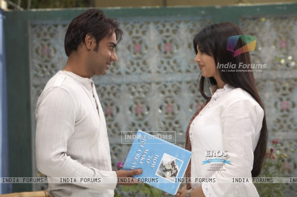 Ajay returning book to Ayesha