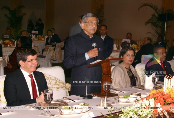 Foreign Minister S M Krishna at the Banquet hosted by EAM for the delegates of