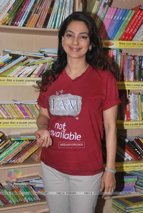Juhi Chawla Launch My Brother Nikhil Screenplay at Crossword Book Store. .