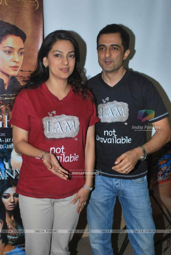 Sanjay Suri and Juhi Chawla Launch My Brother Nikhil Screenplay at Crossword Book Store. .