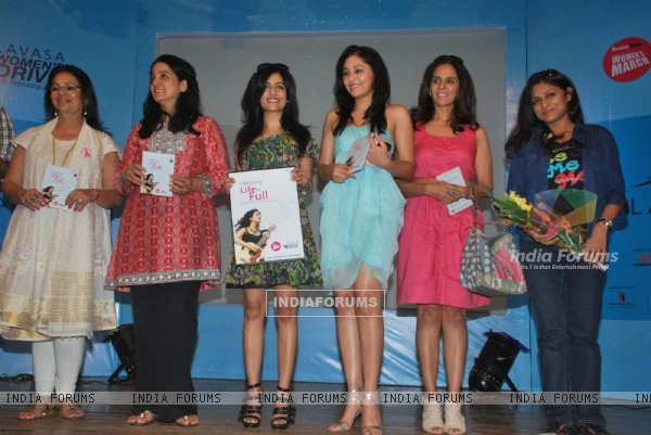 Celebs at Lavasa ladies race event at Dadar. .