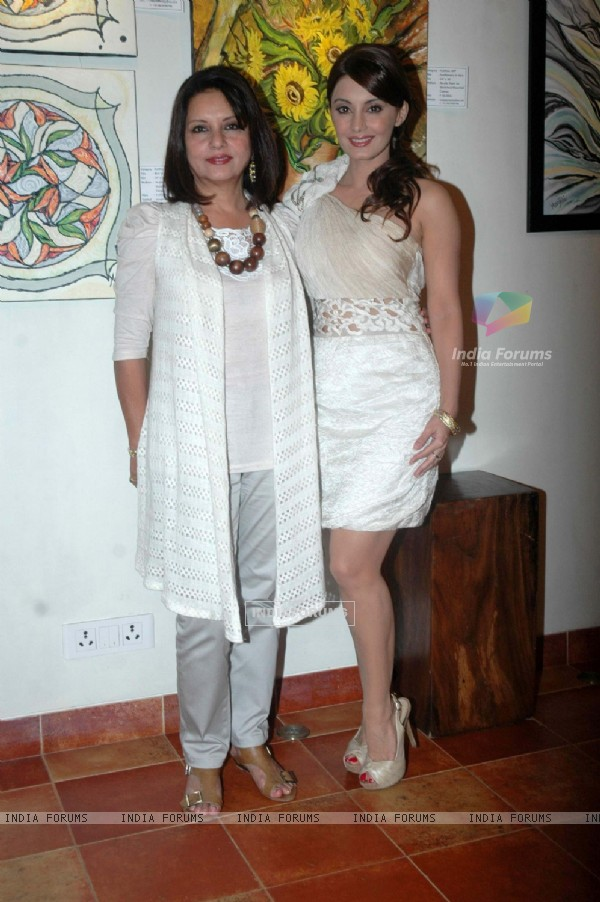 Minissha Lamba's mom art exhibition at Khar. .