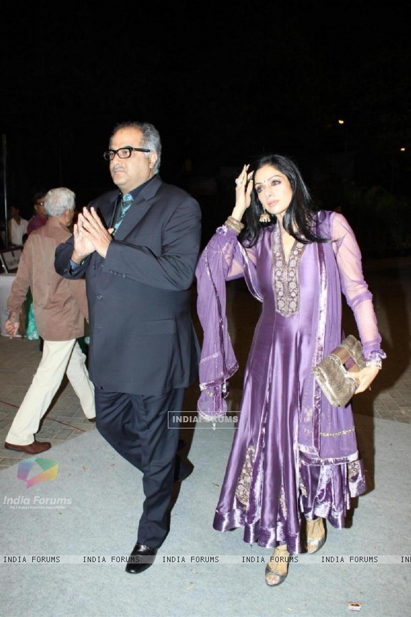 Boney Kapoor and Sridevi at Videocons Venuegopal Dhoots Daughter Marriage