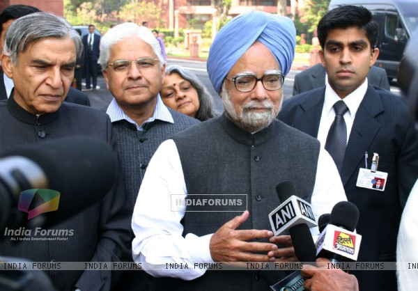 Prime Minister Manmohan Singh on the opening day of Budget session at ...