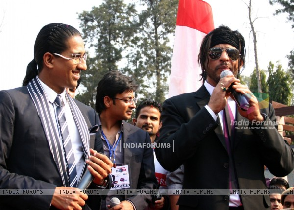 Shahrukh Khan at IIPM (B-School) in New Delhi