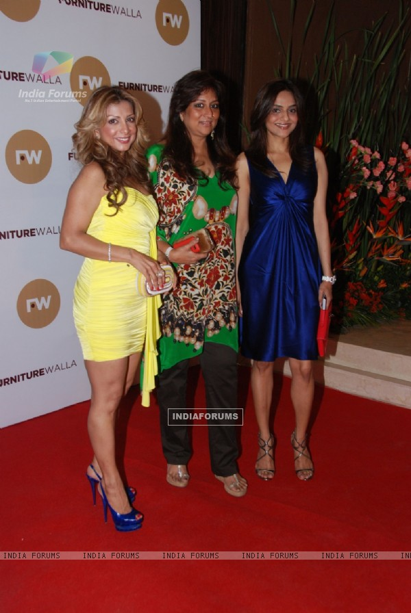 Celebs at Laila Khan's furniturewala launch at Worli, Mumbai. .
