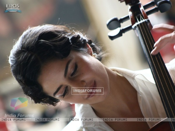 Cello playing by Katrina kaif