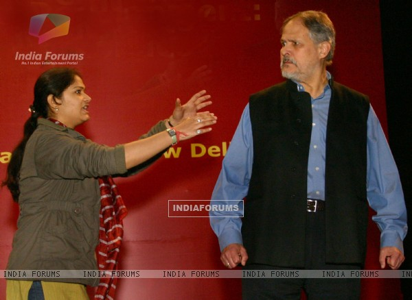 Vice ChancellorJamia Millia Islamia Najeeb Jung during the rehersal of the play