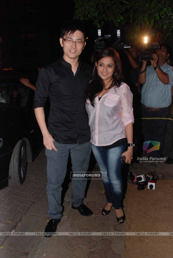 Meiyang Chang at Shahid Kapoor's birthday celebration at Olive, Bandra