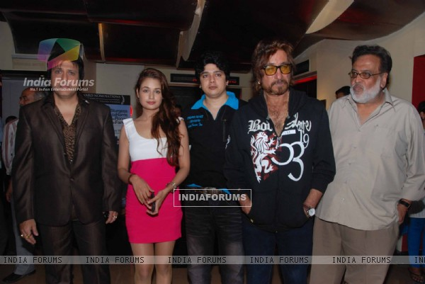 Govinda , Shakti Kapoor and Yuvika at Naughty @ Forty first look launch, PVR, Juhu, Mumbai. .