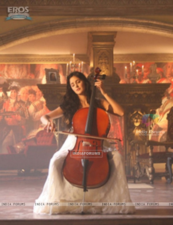 Katrina playing a cello in Yuvvraaj