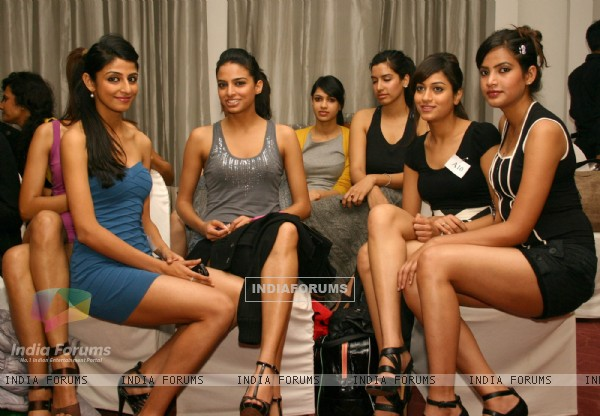 The model audition for Wills Lifestyle India Fashion Week Autumn/Winter 2011 organized by FDCI,in New Delhi. .
