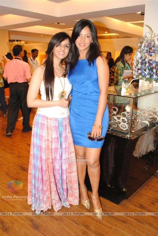 Neetu Chandra and Nishka Lulla at Neeta Lulla's new collections at AZA showroom
