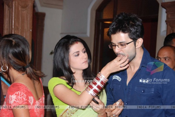 RaQesh Vashisth and Ridhi Dogra at Maryada Serial 100 episodes success bash. .
