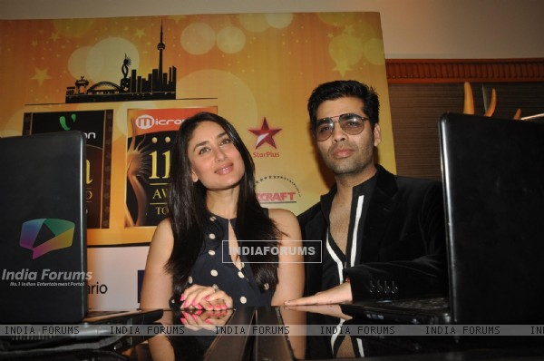 Kareena Kapoor and Karan Johar at IIFA Voting Weekend 2011 at Hotel JW Marriott in Juhu, Mumbai