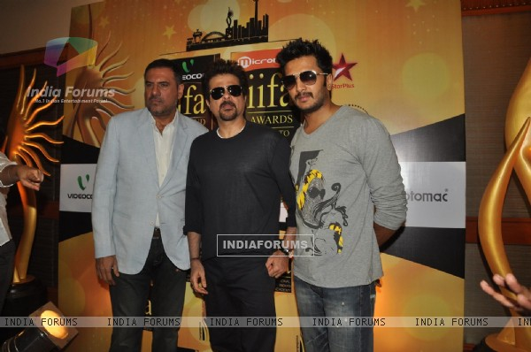 Ritesh, Anil Kapoor and Boman Irani at IIFA Voting Weekend 2011 at Hotel JW Marriott in Juhu, Mumbai
