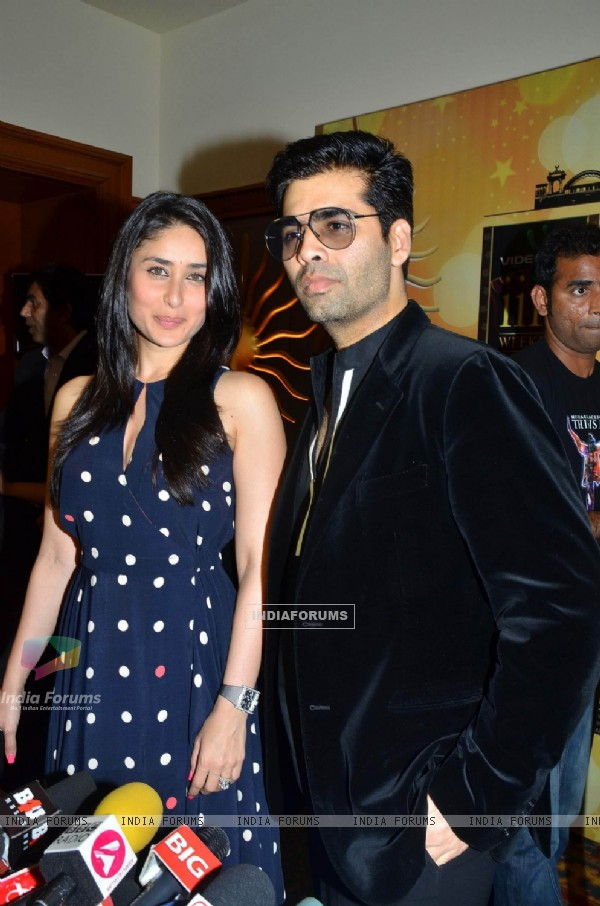Kareena Kapoor and Karan Johar at IIFA voting at Marriott today morning. .