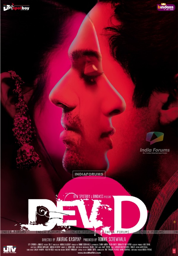 Abhay Deol and Mahie Gill on the poster of Dev D (12423)