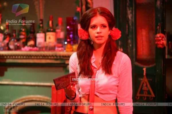Kalki Koechlin in a bar