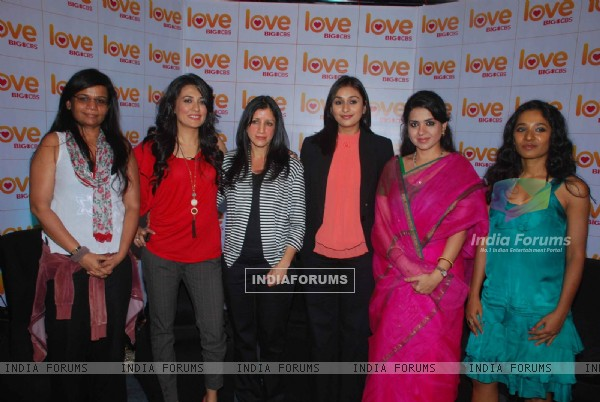 Mini Mathur and Tanishta Chaterjee at Big Love CBS channel launch