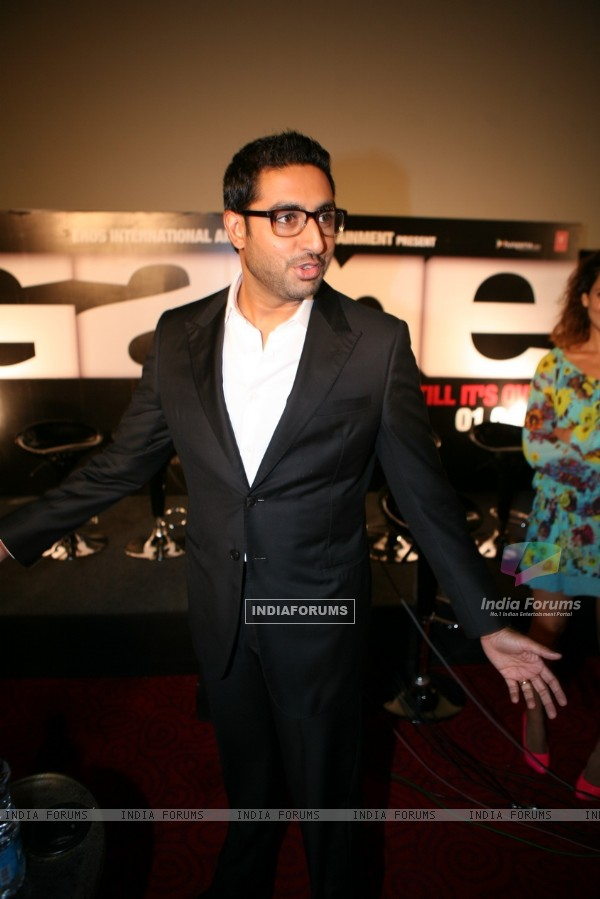 Abhishek Bachchan at Game film Press Conference at Cinemax Versova, Mumbai (124879)