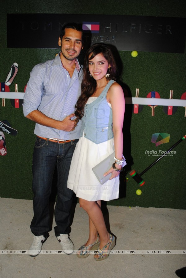 Dino Morea and Shazahn Padamsee at launch of 'TOMMY HILFIGER' Footwear