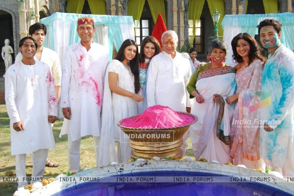 Sood family celebrate Holi