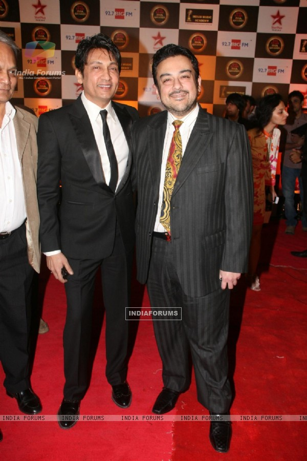 Shekhar Suman and Adnan Sami at BIG STAR IMA Awards