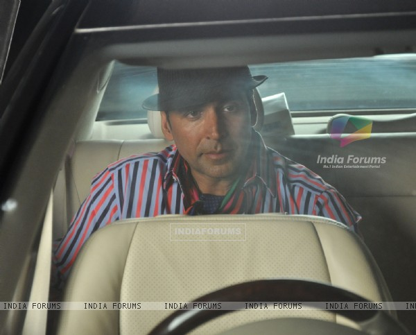 Akshay Kumar at Promotional event of film 'Thank You' at Madh Island
