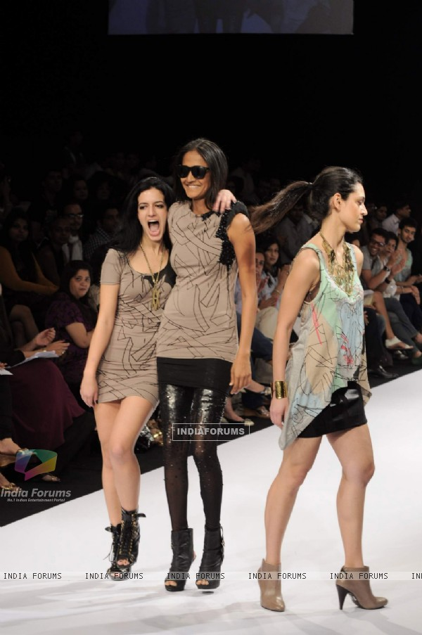 Models at the Day 1 of Lakme Fashion Week. .