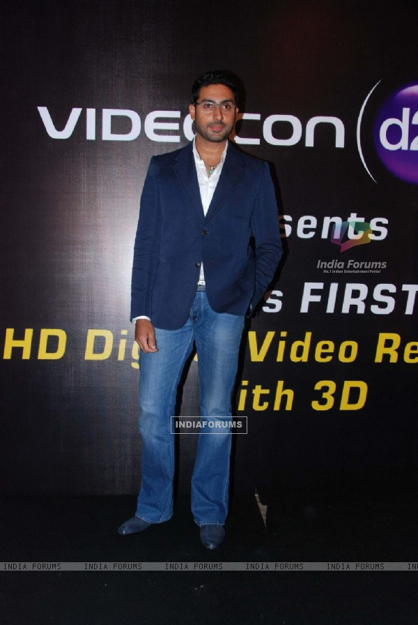 Abhishek Bachchan at 3-d HD launch for Videocon D2H at Novotel. .