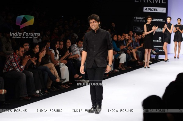 Harangad Singh's creation during the Lakme Fashion Week 2011 Day 5 in Grand Hyatt, Mumbai. .
