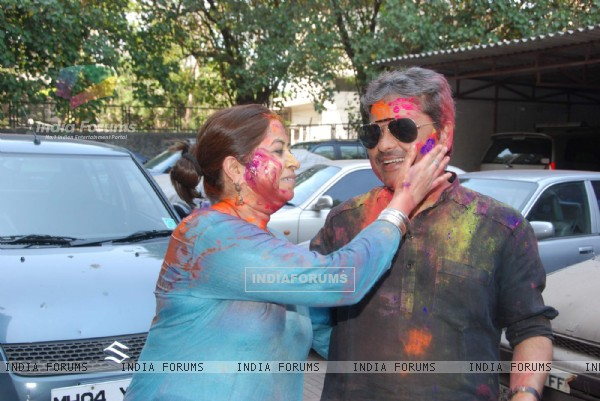 Vishal Bharadwaj at Ekta Kapoor Holi Party at Versova..