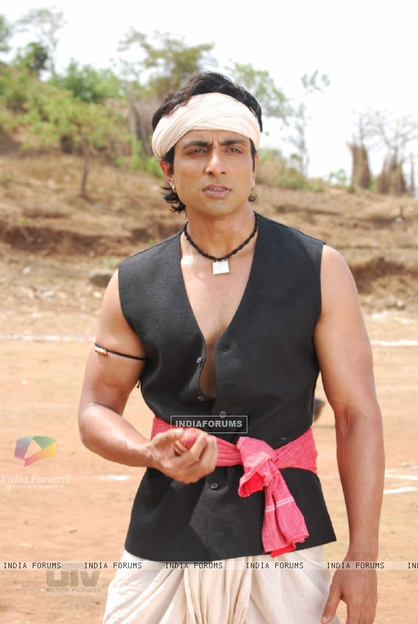 Sonu Sood with a ball in his hand
