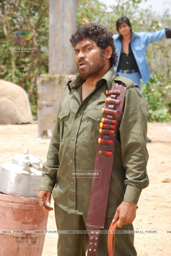 Johny Lever acting like a Gabbar singh from sholay