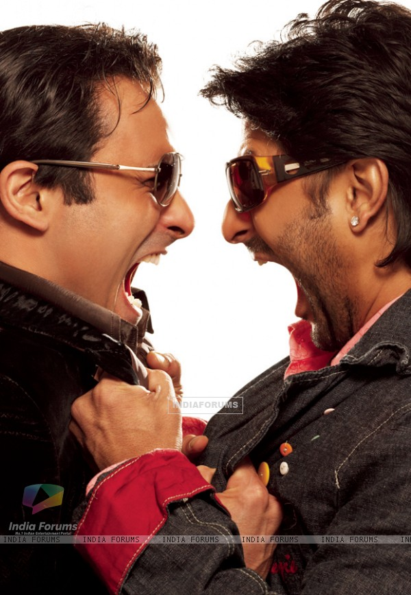 Akshaye Khanna and Arshad Warsi Laughing Picture in Shortkut