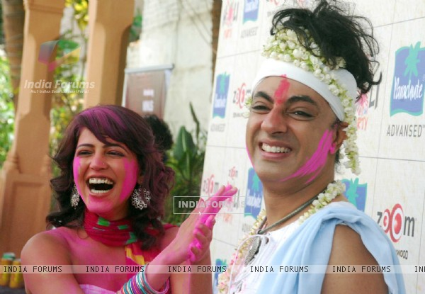 Rohit Verma at Zoom Holi Party in Tulip star