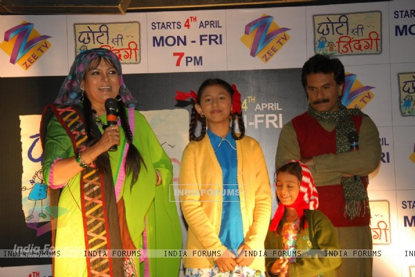 Pavan, Sushmita, Richa and Shruti at Press Conference of Zee Tv new show 'Chhoti Si Zindagi'