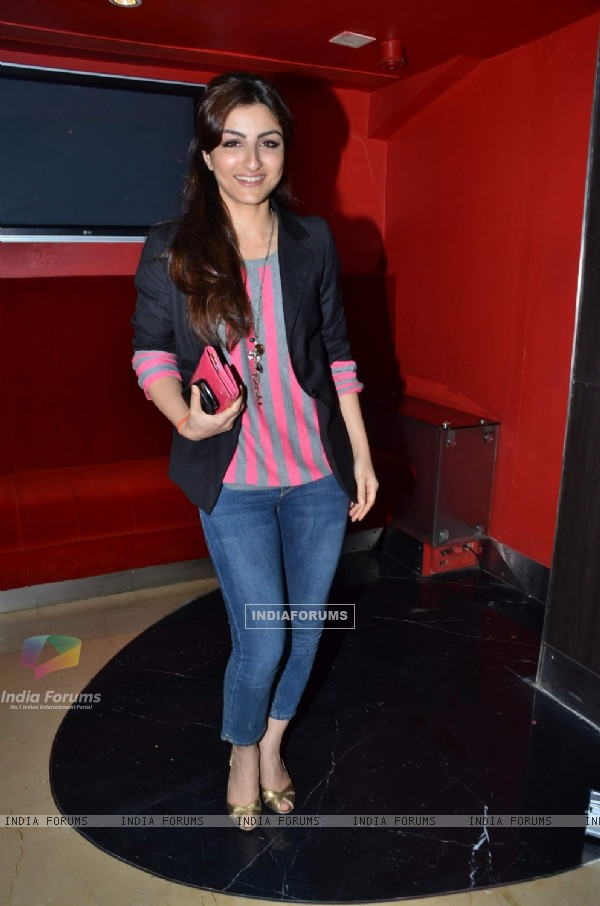 Soha Ali Khan at 'Life Goes On' film screening. .