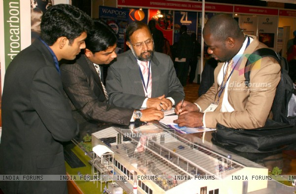 Delegates at the exhibition area during the  ''7th CII-Exim Bank Conclave on India Africa Project Partnership 2011