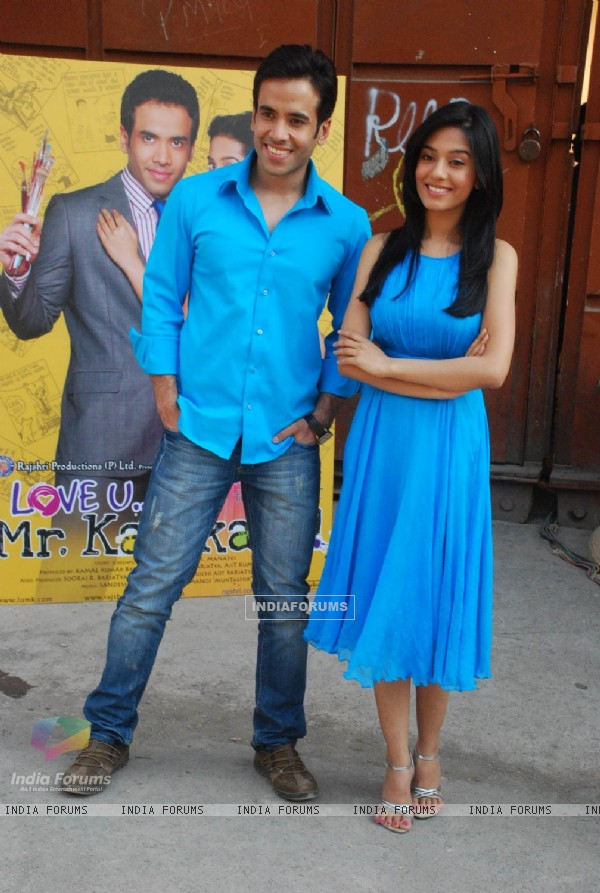 Tusshar Kapoor and Amrita Rao at Love U... Mr. Kalakaar! Promo Shoot in Filmcity (127768)