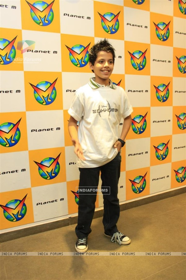 Darsheel Safary at Music launch of movie 'zokkomon' at Planet M, Churchgate, Mumbai